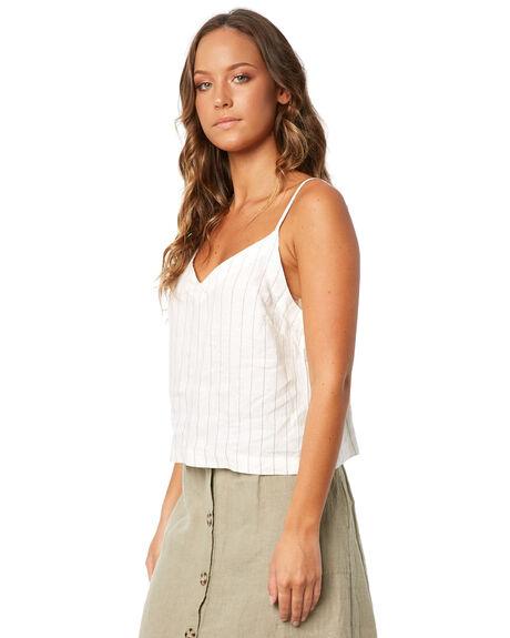 WHITE WOMENS CLOTHING RHYTHM FASHION TOPS - JUL18W-WT02WHT
