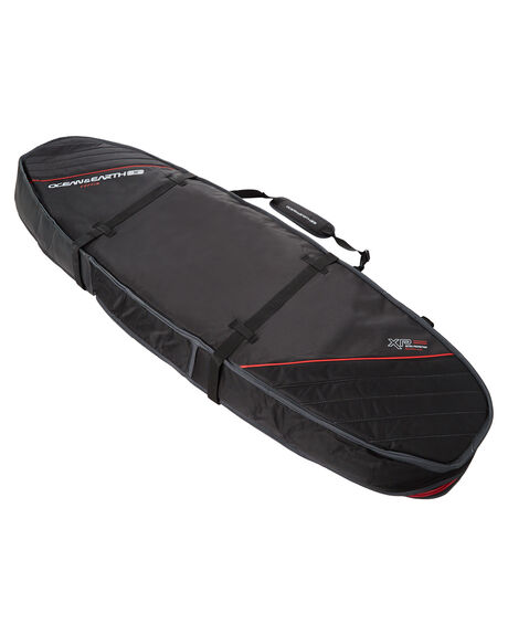 BLACK RED BOARDSPORTS SURF OCEAN AND EARTH BOARDCOVERS - SCSB05BLKRE