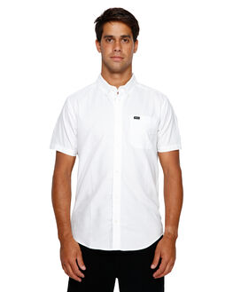 WHITE MENS CLOTHING RVCA SHIRTS - RV-R382185-WHT