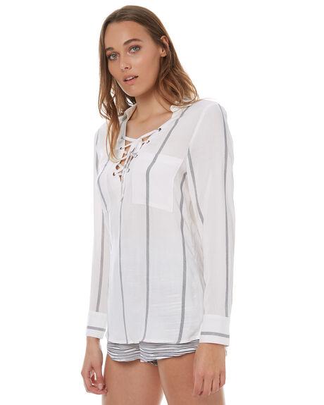 NAVY STRIPE WOMENS CLOTHING ELWOOD FASHION TOPS - W73314NAVY