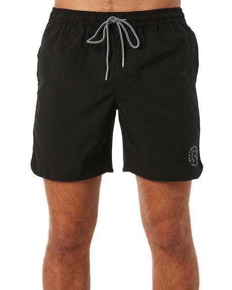 BLACK WHITE MENS CLOTHING RHYTHM BOARDSHORTS - JUL18M-JM08BLK