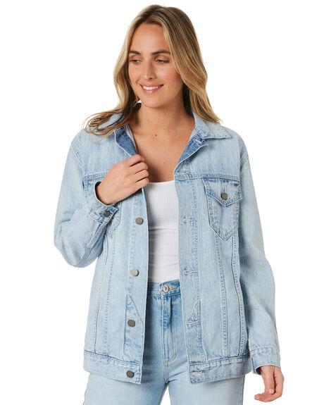 WASHED DENIM WOMENS CLOTHING O'NEILL JACKETS - 5921507WSD