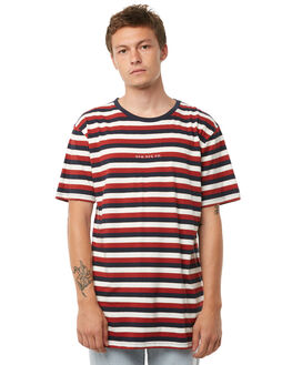 NAVY STRIPE MENS CLOTHING RPM TEES - 8AMT01BNSTRP