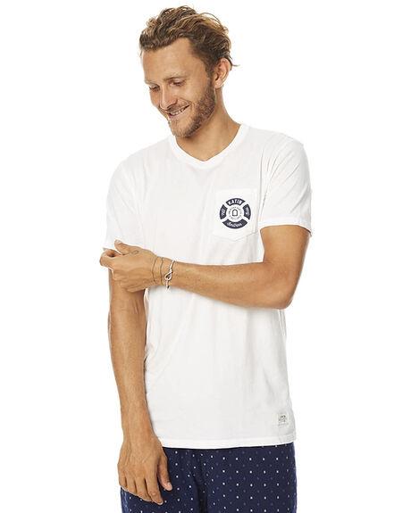 WHITE MENS CLOTHING KATIN TEES - TSSOT16WHT