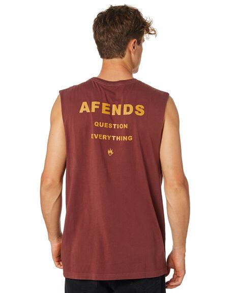 OXBLOOD MENS CLOTHING AFENDS SINGLETS - M184084OXBLD