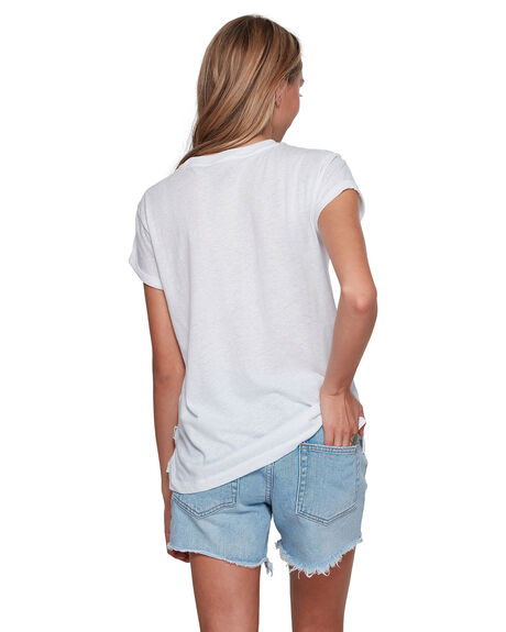 WHITE WOMENS CLOTHING BILLABONG TEES - BB-6507001-WHT