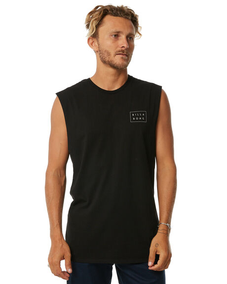 BLACK MENS CLOTHING BILLABONG SINGLETS - 9585503BLK