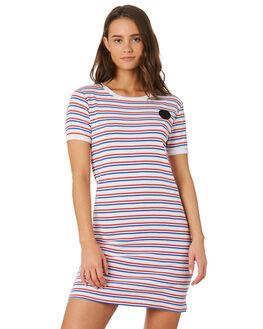 CALI STRIPE WOMENS CLOTHING SANTA CRUZ DRESSES - SC-WDC9923CALI