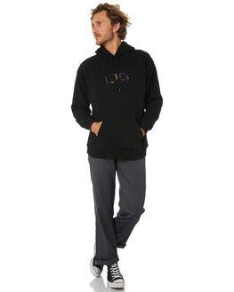 BLACK MENS CLOTHING BRIXTON JUMPERS - 02768BLK