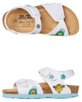 WHITE KIDS GIRLS WALNUT THONGS - ROTTERDAMWHT