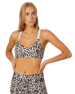 LEOPARD MULTI WOMENS CLOTHING THE UPSIDE ACTIVEWEAR - USW120090LEOML
