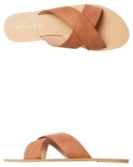 TAN SUEDE WOMENS FOOTWEAR BILLINI FASHION SANDALS - S405TANSD