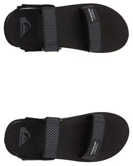 BLACK/GREY/BLACK MENS FOOTWEAR QUIKSILVER THONGS - AQYL100748-XKSK