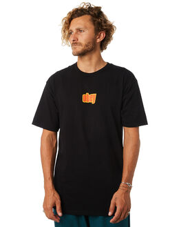 BLACK MENS CLOTHING OBEY TEES - 163081807BLK