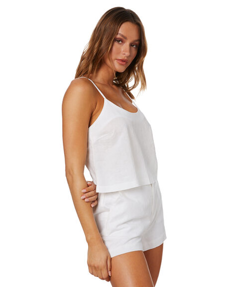 WHITE WOMENS CLOTHING NUDE LUCY FASHION TOPS - NU24125WHT