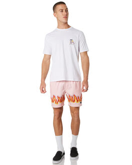 PINK FLAMES MENS CLOTHING BARNEY COOLS BOARDSHORTS - 603-CC1PNKF