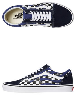 CHECKER FLAME MENS FOOTWEAR VANS SKATE SHOES - VNA38G1RX6CFLM