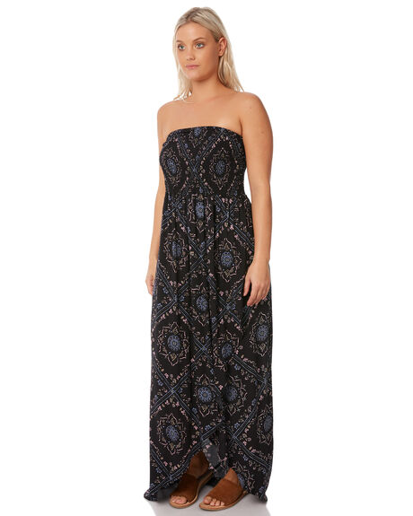 BLACK WOMENS CLOTHING RUSTY DRESSES - DRL0930BLK