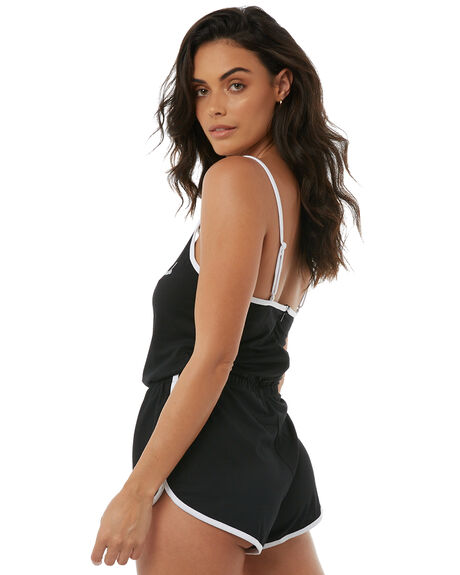 BLACK WOMENS CLOTHING AFENDS PLAYSUITS + OVERALLS - W181851BLK