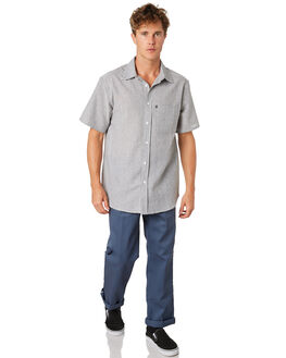 BLACK MENS CLOTHING PASS PORT SHIRTS - PPHICKORYBLK