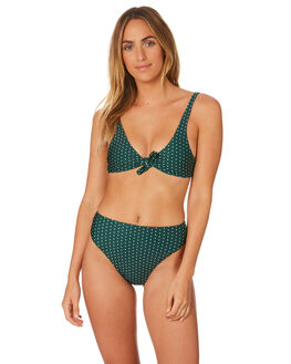 HERBAL DAISY SPOT WOMENS SWIMWEAR STONE FOX SWIM BIKINI TOPS - 1014THRBSP