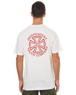 WHITE MENS CLOTHING INDEPENDENT TEES - IN-MTD7150WHT