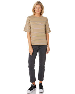 STRIPE TWO WOMENS CLOTHING SILENT THEORY TEES - 6033046STRT