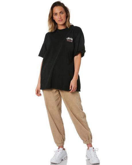 BLACK WOMENS CLOTHING STUSSY TEES - ST102004BLK
