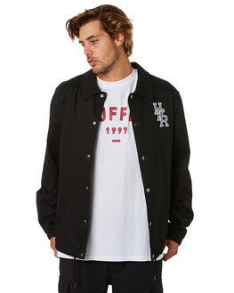 BLACK MENS CLOTHING HUFFER JACKETS - MJA01S5201BLK