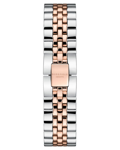 SILVER ROSE GOLD DUO WOMENS ACCESSORIES ROSEFIELD WATCHES - QVSRD-Q014_SILRG