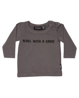 GREY WASH KIDS BABY ROCK YOUR BABY CLOTHING - BBT186-RWGRYWH