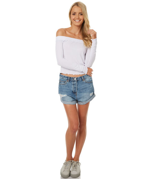 WHITE OUTLET WOMENS ALL ABOUT EVE FASHION TOPS - 6403085WHT