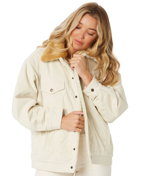 ECRU WIDE WALE WOMENS CLOTHING LEVI'S JACKETS - 85309-0000ECRU