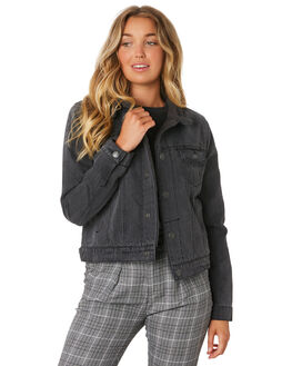 WASTED BLACK WOMENS CLOTHING THRILLS JACKETS - WTDP-204WBWBLK