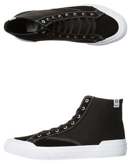 BLACK WHITE MENS FOOTWEAR HUF HI TOPS - VC00006BKWH