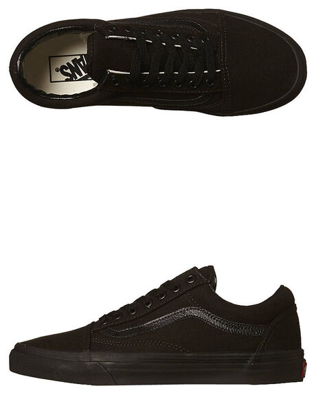 BLACK BLACK MENS FOOTWEAR VANS SKATE SHOES - SSVN-0D3HBKABLKBM