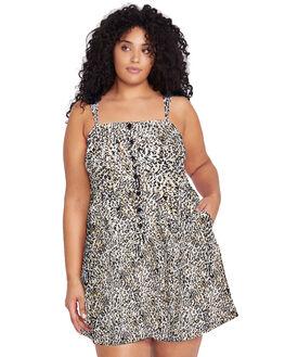 LEOPARD WOMENS CLOTHING VOLCOM DRESSES - B1341900PLEO
