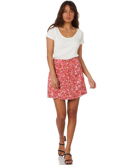 HAND PAINTED FLORAL WOMENS CLOTHING ALL ABOUT EVE SKIRTS - 6463220FLR