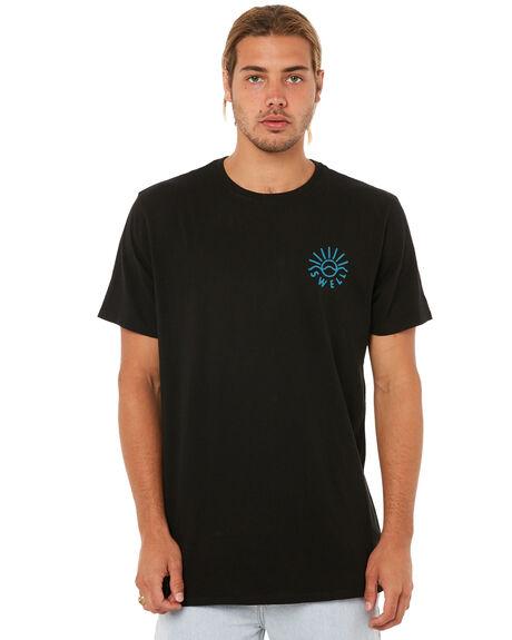 BLACK MENS CLOTHING SWELL TEES - S5183005BLACK