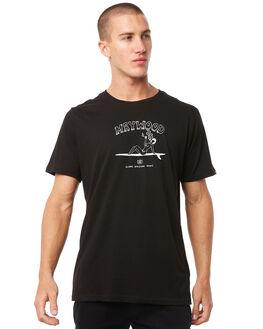 BLACK MENS CLOTHING MAYWOOD TEES - MTZ705WBLK