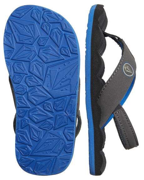 BLUE COMBO KIDS BOYS VOLCOM FOOTWEAR - U0811520BCB