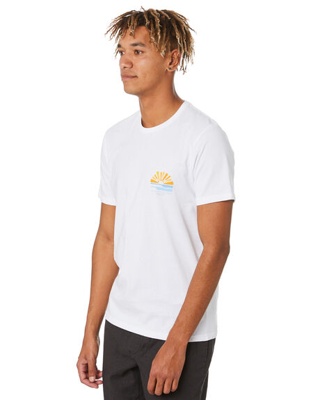 WHITE MENS CLOTHING RIP CURL TEES - CTEQU91000