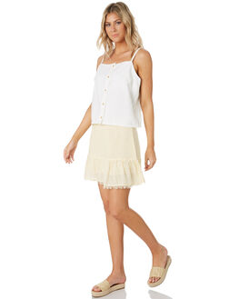 WHITE WOMENS CLOTHING ALL ABOUT EVE FASHION TOPS - 6444010WHT