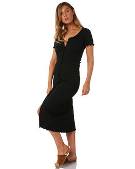 NOIR WOMENS CLOTHING THE BARE ROAD DRESSES - 991141-01NOI