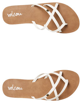 WHITE WOMENS FOOTWEAR VOLCOM FASHION SANDALS - W0811550WHT