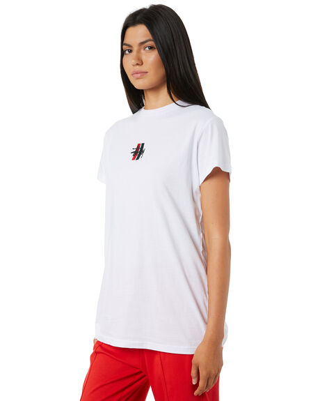 WHITE WOMENS CLOTHING STUSSY TEES - ST195014WHT