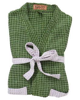 CACTUS GREEN WAFFLE WOMENS ACCESSORIES KIP AND CO HOME + BODY - SS191311CACT