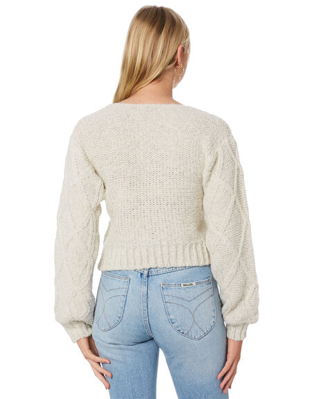 IVORY WOMENS CLOTHING LILYA KNITS + CARDIGANS - LS20-K05-AMIVY