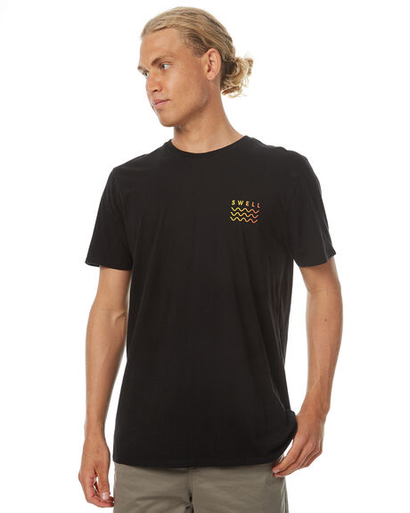 BLACK MENS CLOTHING SWELL TEES - S5174018BLK