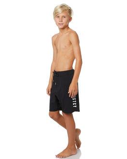 BLACK KIDS BOYS STACEY BOARDSHORTS - STBSTEAMBLK17BLK
